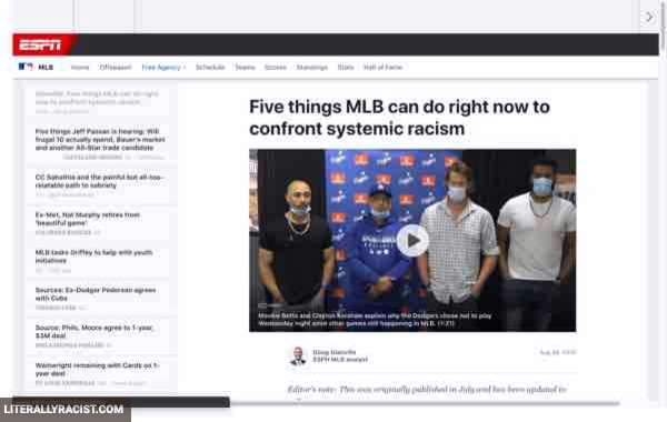 Damn White People And Their Racist Major League Baseball