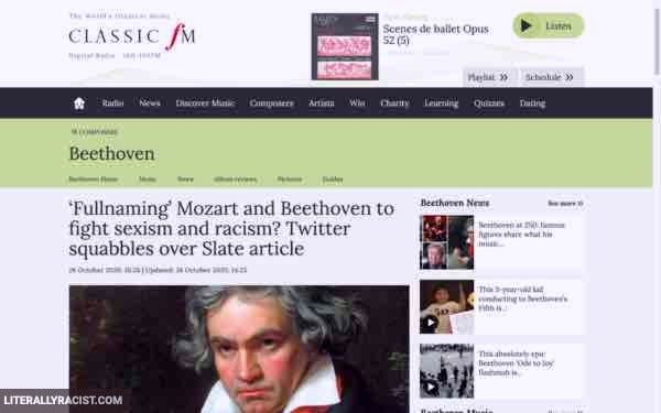 Damn White People And Their Racist Mozart