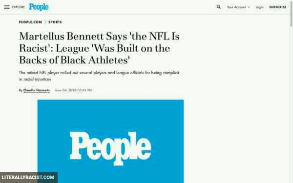 Racist NFL Football League