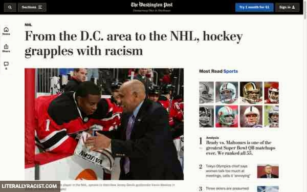 Damn White People And Their Racist Nhl Hockey