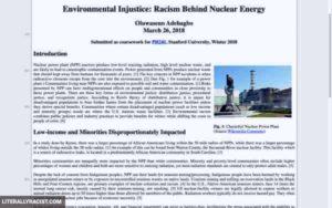 Racist Nuclear Energy
