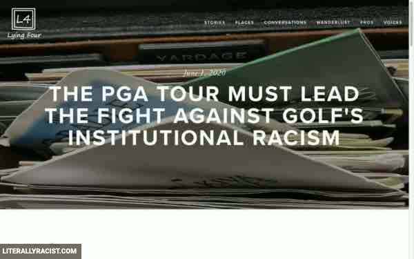 Damn White People And Their Racist Pga Tour