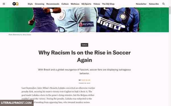 Damn White People And Their Racist Professional Soccer