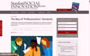 Racist Professional Standards