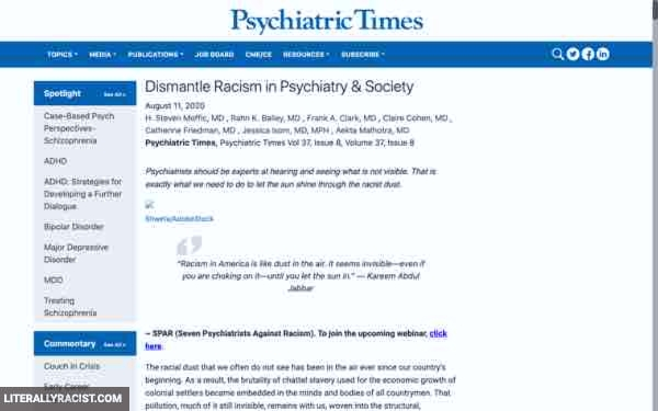 Damn White People And Their Racist Psychiatrists