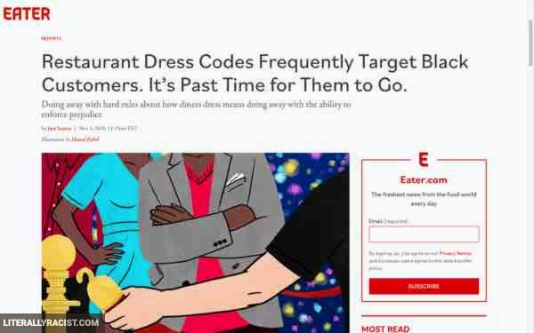 Damn White People And Their Racist Restaurant Dress Codes