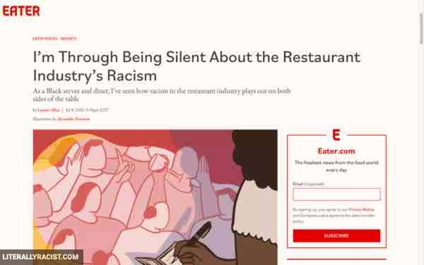 Damn White People And Their Racist Restaurant Industry