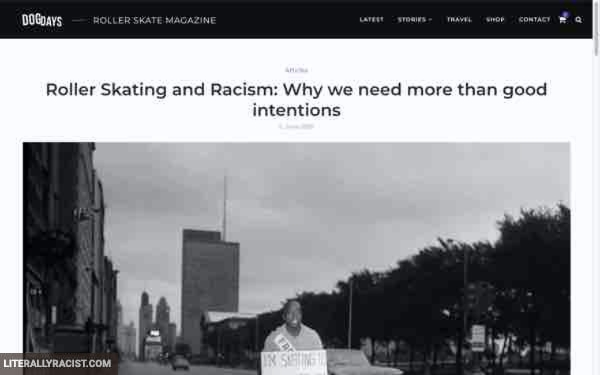 Damn White People And Their Racist Roller Skating