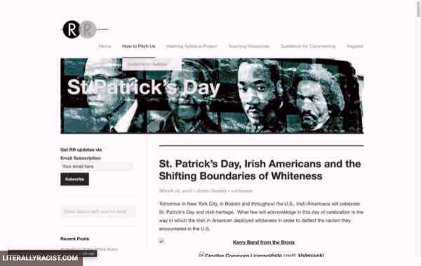 Damn White People And Their Racist Saint Patricks Day