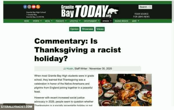 Damn White People And Their Racist Thanksgiving