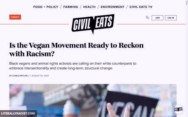 Damn White People And Their Racist Vegan Movement
