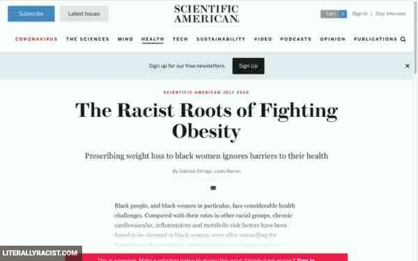 Damn White People And Their Racist Way Of Fighting Obesity
