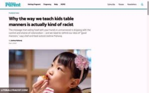 Racist Way Of Teaching Children To Have Good Manners