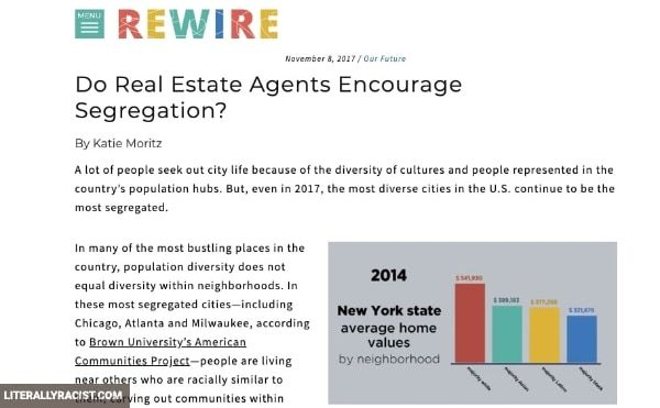 Damn White People And Their Racist Real Estate Agents