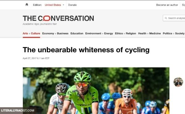 Damn White People And Their Racist Riding Bicycles