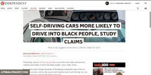 Damn White People And Their Racist Self Driving Cars