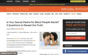 Damn White People And Their Racist Sexual Attraction To Black People