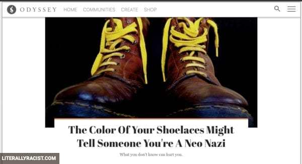Damn White People And Their Racist Shoelaces