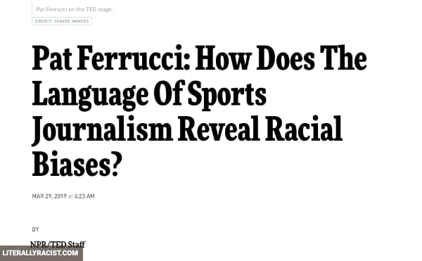 Damn White People And Their Racist Sports Journalism