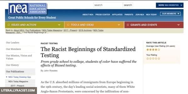 Damn White People And Their Racist Standardized Testing
