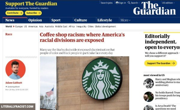 Damn White People And Their Racist Coffee Shops