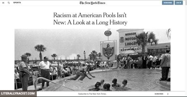 Damn White People And Their Racist Swimming Pools