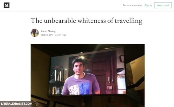 Damn White People And Their Racist Traveling