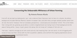 Damn White People And Their Urban Farming