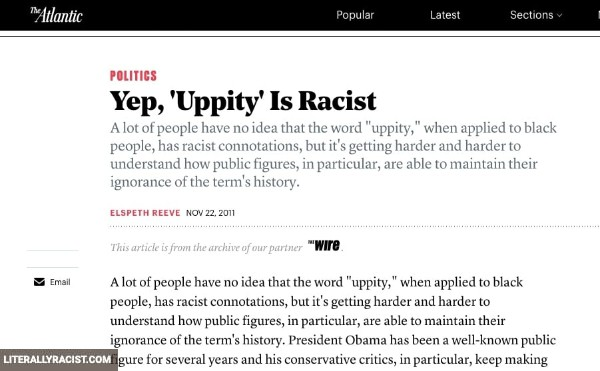 Damn White People And Their Racist Use Of The Word Uppity