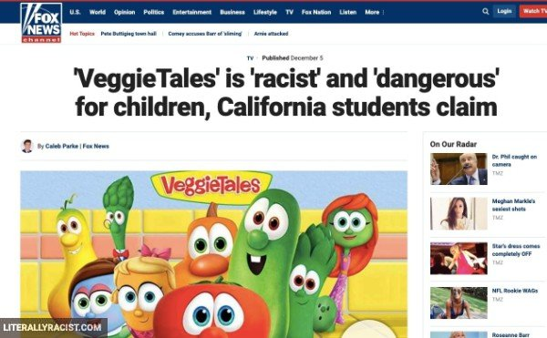Damn White People And Their Racist Veggie Tales Cartoons