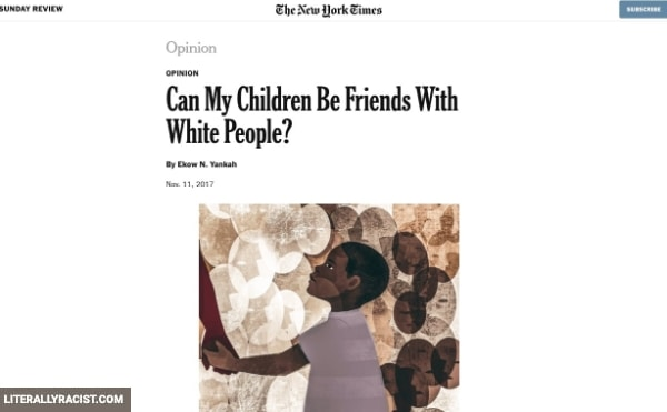 Damn White People And Their Racist Way of Being Friends With Black Children