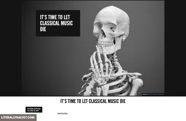 Damn White People And Their Racist Way of Listening to Classical Music