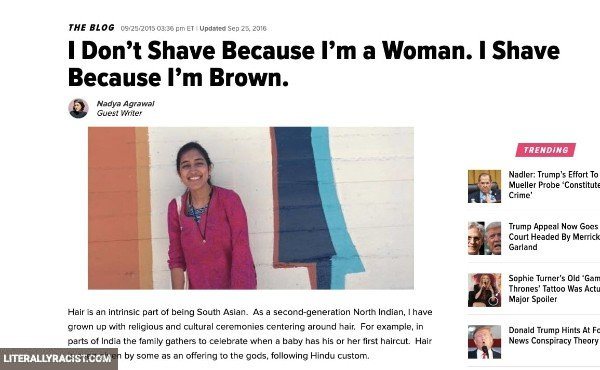 Damn White People And Their Racist Way of Removing Female Body Hair