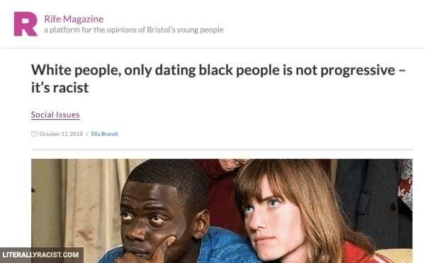 Damn White People And Their Racist Way of Dating Black People